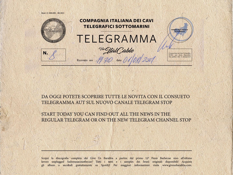 Give Us Barabba su Telegram